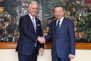 Bộ trưởng Tô Lâm hội đàm với Cố vấn An ninh Quốc gia Mỹ Robert O'Brien
