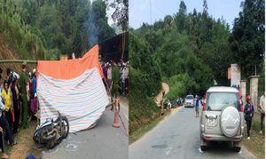 Ô tô Ford Everest va chạm với xe máy khiến 2 người tử vong ở Hà Giang