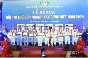 Trao giải Hội thi Thợ giỏi ngành Xây dựng Việt Nam năm 2020