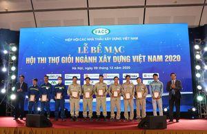 VINADIC bội thu giải thưởng tại Hội thi Thợ giỏi ngành Xây dựng Việt Nam 2020