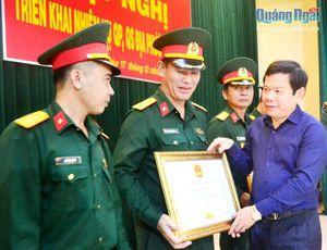 Triển khai nhiệm vụ quốc phòng, quân sự địa phương năm 2021