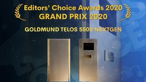 Goldmund Telos 5500 NextGen - Siêu amp ultra hi-end đoạt giải GrandPrix Editors' Choice 2020