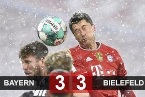 Kết quả Bayern 3-3 Bielefeld: Chết hụt ở hang hùm