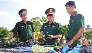 Thiếu tướng Nguyễn Thanh Hải kiểm tra công tác chuẩn bị huấn luyện chiến đấu tại Bạc Liêu