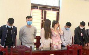 Thanh Hóa: Bắt quả tang 9 đối tượng tổ chức sử dụng ma túy