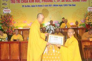 Đồng Tháp: Bổ nhiệm trụ trì chùa Kim Huê