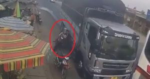 Danh tính tài xế xe tải vượt ẩu suýt 'lấy mạng' người phụ nữ và 2 đứa trẻ ở Lâm Đồng