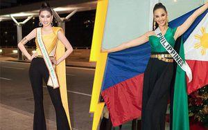 'Lên đồ' xuất trận Miss Grand, Á hậu Ngọc Thảo trùng ý tưởng với cựu Hoa hậu Hoàn vũ