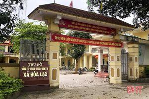 Cảnh cáo Chủ tịch UBND xã Hòa Lạc do buông lỏng quản lý đất đai