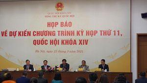 Quốc hội dành 7 ngày để làm công tác nhân sự tại Kỳ họp thứ 11