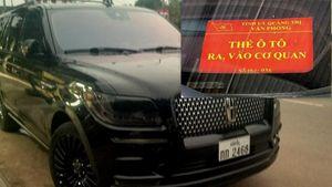Xác minh xe nước ngoài có gắn 'thẻ đỏ' ra vào Tỉnh ủy Quảng Trị