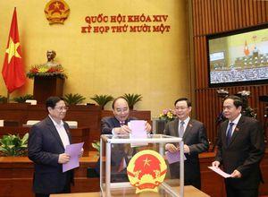Bộ máy Chính phủ sau khi được Quốc hội phê chuẩn, bổ nhiệm