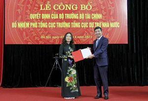 Nữ Cục trưởng được bổ nhiệm làm lãnh đạo Tổng cục Dự trữ Nhà nước