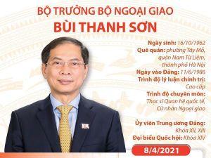 Tiểu sử Bộ trưởng Bộ Ngoại giao Bùi Thanh Sơn