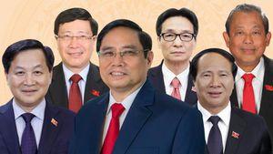 Bộ máy Chính phủ sau khi được Quốc hội bầu và phê chuẩn