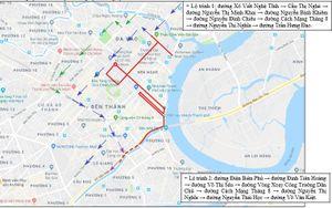 Cấm xe trên các tuyến đường trung tâm TPHCM trong hai ngày 10-11/4