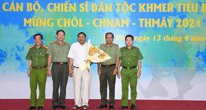 Công an Trà Vinh họp mặt CBCS dân tộc Khmer tiêu biểu