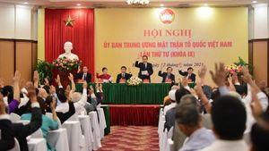 Bộ máy lãnh đạo Ủy ban Trung ương MTTQ Việt Nam khóa IX sau Hội nghị lần thứ tư