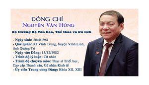 Tân Bộ trưởng Bộ Văn hóa, Thể thao và Du lịch Nguyễn Văn Hùng