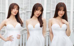 Diễm My 9x dịu dàng thanh khiết trong bộ váy trắng tôn dáng