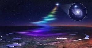Thiên hà khác phát tín hiệu 'cầu vồng' xuống Trái Đất 18 lần