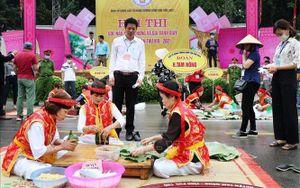 Giỗ Tổ Hùng Vương - Lễ hội Đền Hùng 2021: Sôi nổi hội thi bánh chưng, bánh giầy