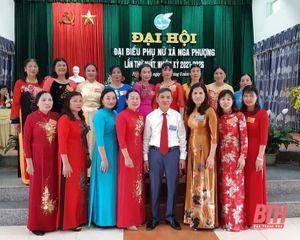 Hội LHPN huyện Nga Sơn hoàn thành đại hội đại biểu phụ nữ cấp cơ sở, nhiệm kỳ 2021-2026