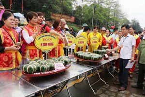 Phú Thọ: Khai mạc Hội thi gói, nấu bánh chưng, giã bánh giầy tại đền Hùng
