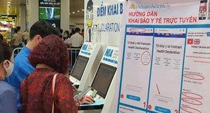 Hàng nghìn khách chưa khai báo y tế khi vào cửa an ninh ở sân bay Nội Bài
