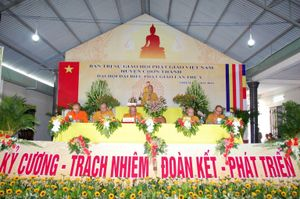 Bình Phước: Thượng tọa Thích Tĩnh Cường tiếp tục làm Trưởng ban Trị sự GHPGVN huyện Chơn Thành