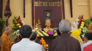Tưởng niệm cư sĩ Chánh Trí Mai Thọ Truyền tại chùa Xá Lợi