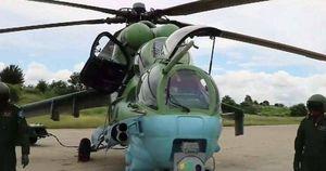 Video cảnh trực thăng Mi-35 của Myanmar bị bắn rơi bằng tên lửa vác vai