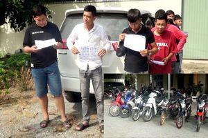 Bắt nhóm thanh thiếu niên đua xe trái phép ở An Giang