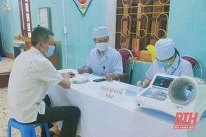 Cẩm Thủy hoàn thành tiêm chủng 500 liều vắc - xin phòng COVID-19 đợt 1