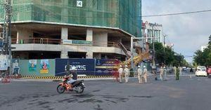 Rơi cần trục tháp tại tòa nhà The Light Phú Yên