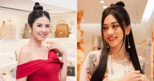 Ngọc Hân trễ nải vai trần nóng bỏng, Á hậu Phương Nga xinh đẹp hóa 'mỹ nhân cổ trang'