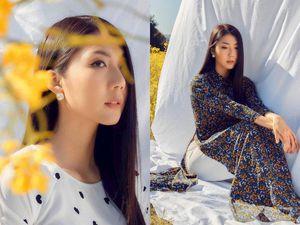 Cựu người mẫu Ngọc Quyên khoe sắc trong tà áo dài trên tạp chí thời trang của Mỹ