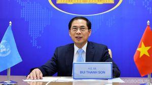 Bộ trưởng Ngoại giao Bùi Thanh Sơn: Hợp tác đa phương là cách thức hiệu quả nhất để giải quyết các thách thức toàn cầu