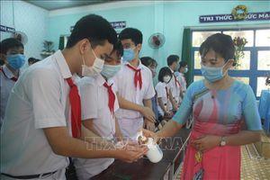 Các trường học tại Bình Định tăng cường biện pháp phòng dịch COVID-19