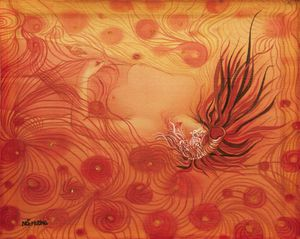 Triển lãm 'Hương lụa': Cuộc đối thoại giữa lụa và nữ họa sỹ 8X