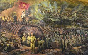 Hoàn thành bức tranh tường Chiến thắng Điện Biên Phủ