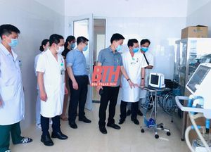Kiểm tra công tác đáp ứng phòng, chống dịch COVID-19 tại Bệnh viện Ung bướu Thanh Hóa