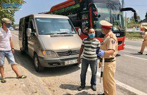 Quảng Ngãi tạm dừng vận tải hành khách đến các tỉnh, thành có dịch Covid-19