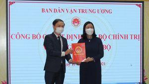 Ông Phạm Tất Thắng được phân công làm Phó Trưởng Ban Dân vận Trung ương