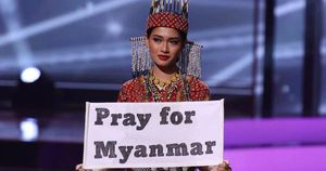 Hoa hậu Myanmar bị truy nã