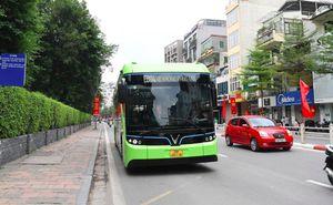 VinBus bắt đầu chạy thử nghiệm trên một số tuyến phố trong nội đô TP Hà Nội