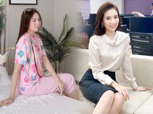 'Xả' vai gái công sở, Mai Ngọc ở nhà mặc đồ bộ: Đẹp như tiểu thư