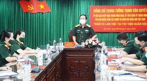 Trung tướng Trịnh Văn Quyết thăm và làm việc với Thư viện Quân đội