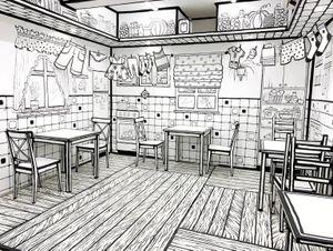 Lạc vào quán cà phê giống... quyển truyện tranh