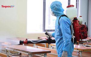 Các trường thực hiện phun khử khuẩn, sẵn sàng cho kỳ thi tuyển sinh vào lớp 10